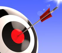 Bulls eye target shows excellence and skill Stock Illustration