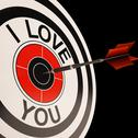 Stock Illustration of i love you target shows valentines affection