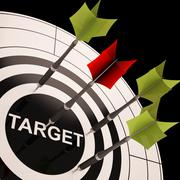 Stock Illustration of target on dartboard shows perfect aiming