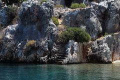 Ancient Cities of Olympos and Antalya - stock photo