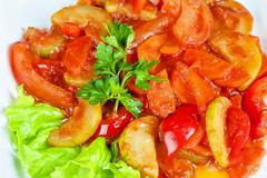 saute from zucchini - stock photo