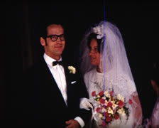 8 mm wedding early 1960's Stock Footage