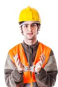 busted engineer - stock photo