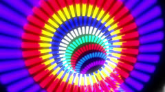 Glowing colourful tunel Stock Footage