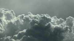 Magnificent Bubbling Storm Clouds Time Lapse Stock Footage