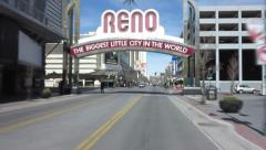 Driving thru Reno Nevada Stock Footage