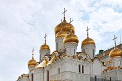 Cathedral of the annunciation in moscow kremlin Stock Photos