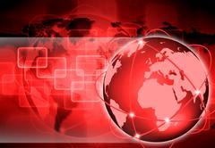 Abstract the world technology Stock Illustration