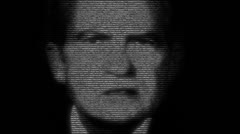 Richard Nixon, animation - stock footage