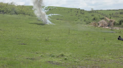 Stock Video Footage of Pyrotechnic explosion. Editorial