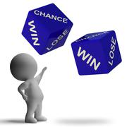 Chance win lose dice showing betting Stock Illustration