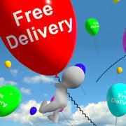 Ilmainen toimitus ilmapalloja näytetään veloituksetta tai gratis antamatta Piirros