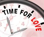 Stock Illustration of time for love message shows romance and feelings