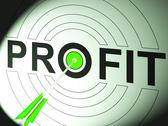 Stock Illustration of profit shows business success in trading