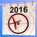 Stock Illustration of 2016 calendar target shows planning annual agenda