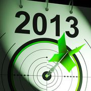 2013 target means future goal projection Stock Illustration