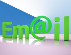 e-mail letters shows emailing correspondence or contacting - stock illustration