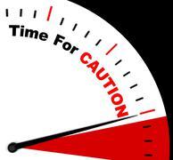 Caution message representing danger beware or warning Stock Illustration