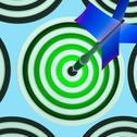 Stock Illustration of target shows triumph, winning shot and achievement
