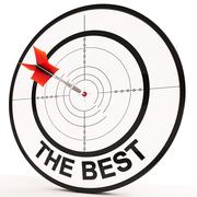The best means victory achievement and excellence Stock Illustration