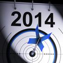 Stock Illustration of 2014 target means business plan forecast