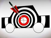 Stock Illustration of car target shows excellence and accuracy