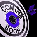 Stock Illustration of coming soon target shows campaign announcement