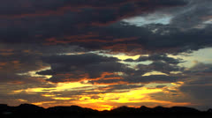 Arizona Streaked Storm Sunset Time Lapse Stock Footage