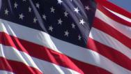 Stock Video Footage of American Flag CU Waving - Real Time