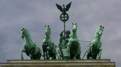 Quadriga on Brandenburg Gate - Berlin, Germany Stock Footage