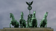 Stock Video Footage of Quadriga on Brandenburg Gate - Berlin, Germany