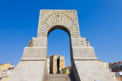 Historic War Monument in Marseilles, France - stock photo