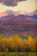 Fall foliage on mt. mansfield in stowe, vermont, usa Stock Photos