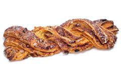 Spanish trenza de almudevar, a typical braided pastry Stock Photos