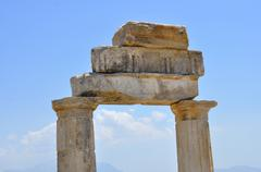 Hierapolis gymnasium Stock Photos