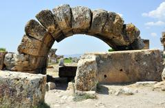 Hierapolis arch Stock Photos