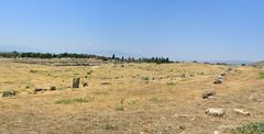 hierapolis ruins - stock photo
