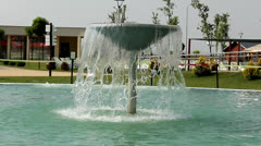 Aqua park fountain Stock Footage