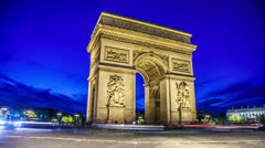 Arc de Triomphe Stock Footage