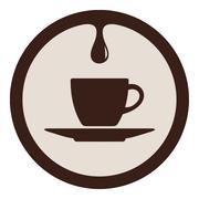 Coffee Drop Stock Illustration
