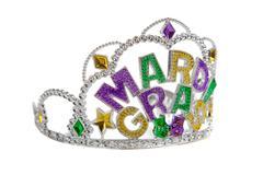 a mardi gras tiara on white - stock photo