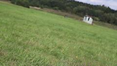 Running Through Field First Person View Stock Footage