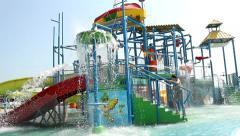 Aqua park Stock Footage