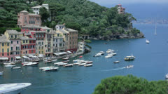Portofino Port on the Italian Riviera - 29,97FPS NTSC Stock Footage