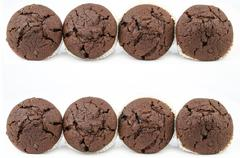 Stock Photo of Chocolate muffins isolated on white