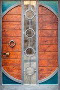 Steampunk door Stock Photos