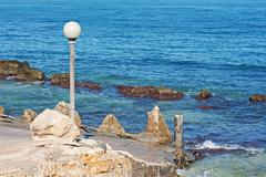 adriatic coast landscape - stock photo
