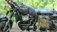 Scrambler Motorcycle 08 Stock Footage