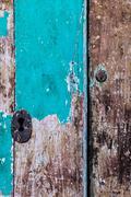 Ancient door vertical Stock Photos