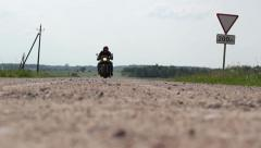 Riding Scrambler Motorcycle 04 Stock Footage